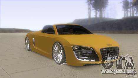 Audi R8 5.2 FSI Spider for GTA San Andreas back view