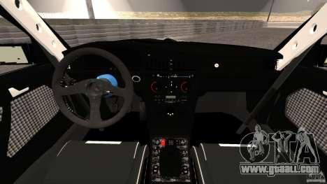 Mercedes-Benz 190E 2.3-16 sport for GTA 4 back view