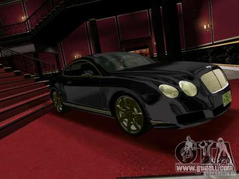 Bentley Continental GT for GTA Vice City back left view