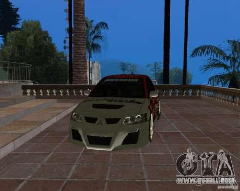 Mitsubishi Lancer Evolution VIII for GTA San Andreas side view