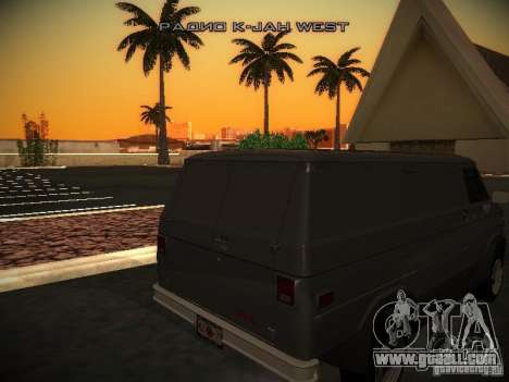 GMC Vandura for GTA San Andreas back view