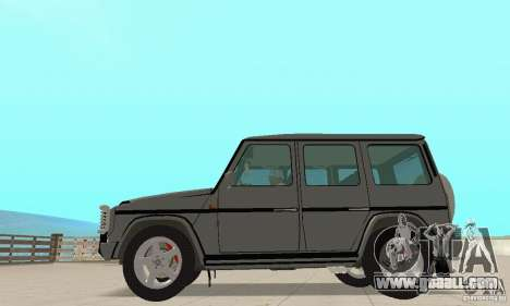 Mercedes-Benz G500 1999 v. 1.1 kengurâtnikom for GTA San Andreas back left view
