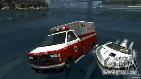 Ambulance boat for GTA 4 side view