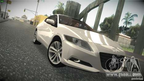 Honda CR-Z 2010 V1.0 for GTA San Andreas inner view
