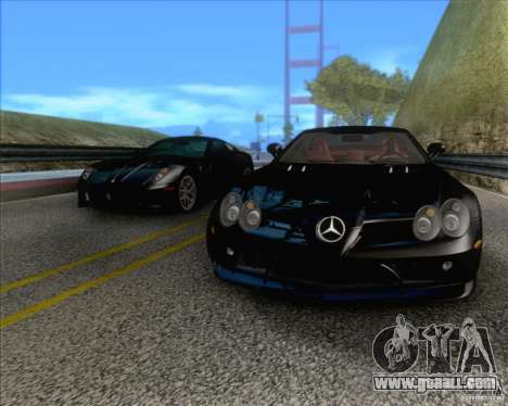 Mercedes SLR McLaren 722 Edition for GTA San Andreas back view
