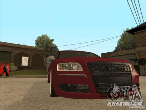 Audi A8 Switze for GTA San Andreas back view