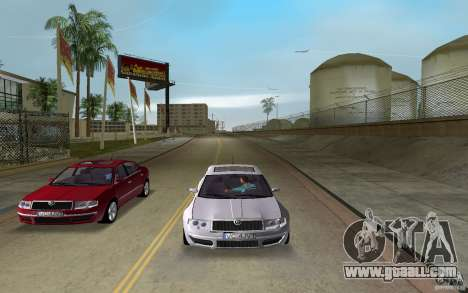 Skoda Superb 2.2 v.4 final for GTA Vice City back left view