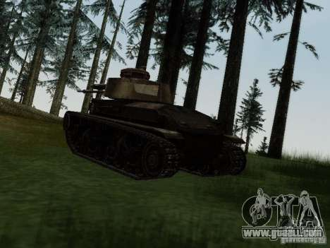 Pzkpfw-35t for GTA San Andreas right view