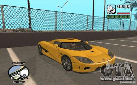 Koenigsegg CCX for GTA San Andreas