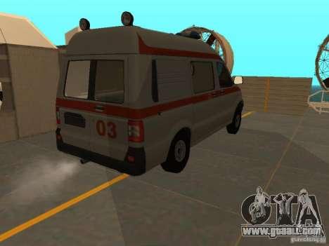 UAZ Simba SC ambulance for GTA San Andreas back view