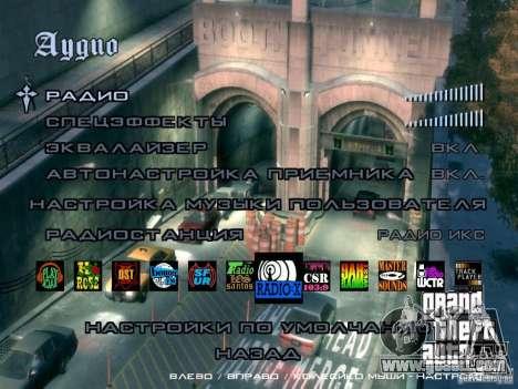 Menu like in GTA IV for GTA San Andreas sixth screenshot