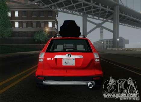 Honda CRV 2011 for GTA San Andreas bottom view