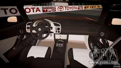 Honda S2000 2002 v2 for annealing for GTA 4 upper view