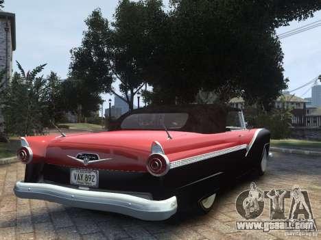Ford Sunliner Custom 1956 for GTA 4 left view