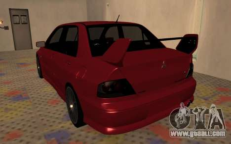 Mitsubishi Lancer Evolution VIII for GTA San Andreas right view