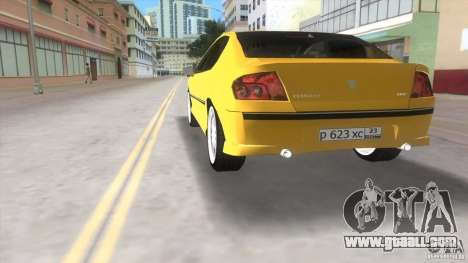 Peugeot 407 for GTA Vice City back left view