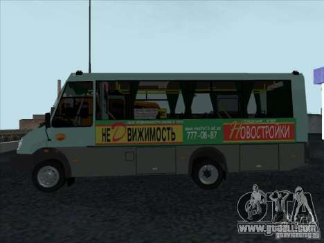 Golaz 3207 for GTA San Andreas back left view