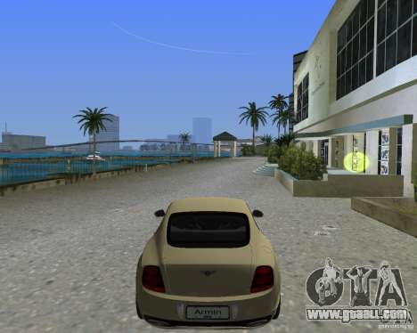 Bentley Continental SS for GTA Vice City left view