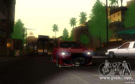 Mitsubishi Lancer EVO X drift Tune for GTA San Andreas back view