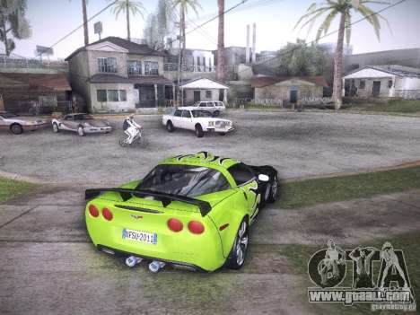 Chevrolet Corvette C6 Z06 Tuning for GTA San Andreas bottom view