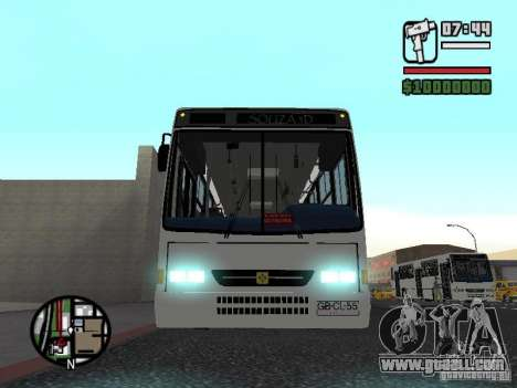 Busscar Urbanus SS Volvo B10M for GTA San Andreas side view