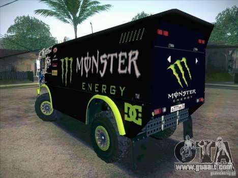 KAMAZ Master 4911 Monster Energy for GTA San Andreas left view