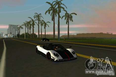 Pagani Zonda Cinque Roadster 2010 for GTA Vice City back left view