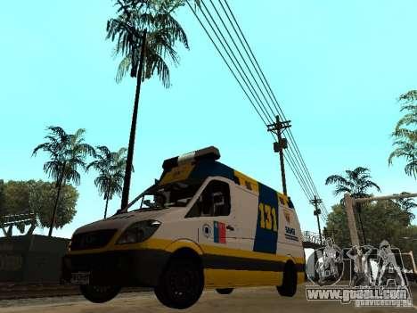 Mercedes-Benz Sprinter Ambulancia for GTA San Andreas