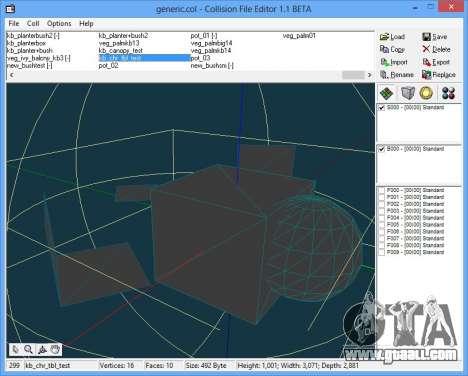 CollEditor 1.1beta for GTA Vice City third screenshot