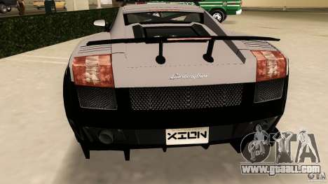 Lamborghini Gallardo Police for GTA Vice City back view