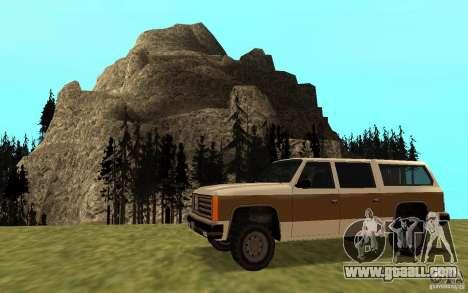 A Civilian FBI Rancher for GTA San Andreas left view