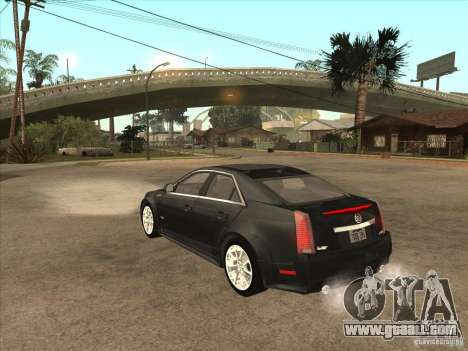 Cadillac CTS-V 2009 for GTA San Andreas back left view