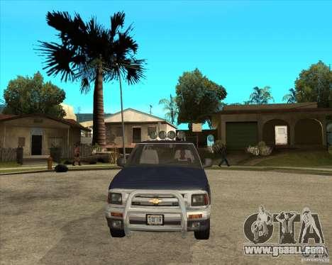 1996 Chevrolet Blazer pickup for GTA San Andreas back view