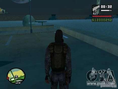 Stalker mercenary in the new kombeze for GTA San Andreas third screenshot