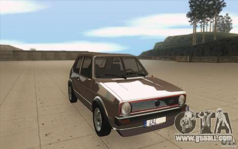 Volkswagen Golf Mk1 - Stock for GTA San Andreas back view