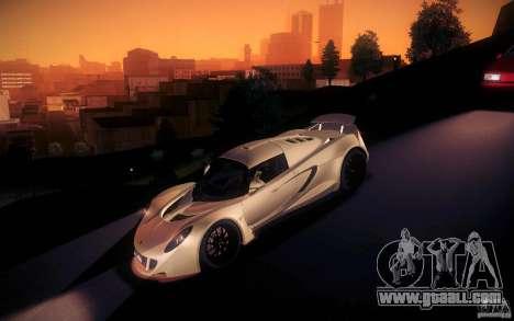 Hennessey Venom GT 2010 V1.0 for GTA San Andreas bottom view