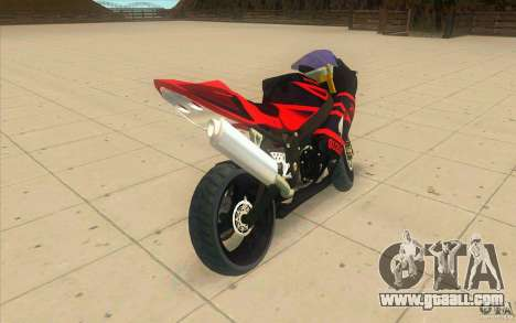 Suzuki GSXR 1000 for GTA San Andreas back left view