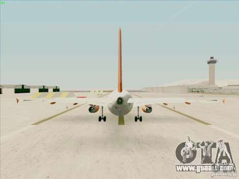 Airbus A319 Easyjet for GTA San Andreas right view