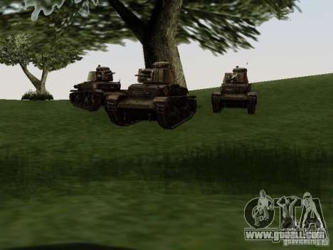 Pzkpfw-35t for GTA San Andreas back view