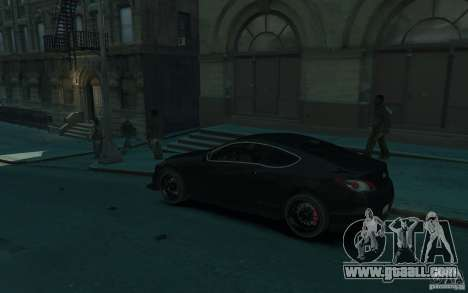 Hyundai Genesis HKS v1.1 for GTA 4 left view