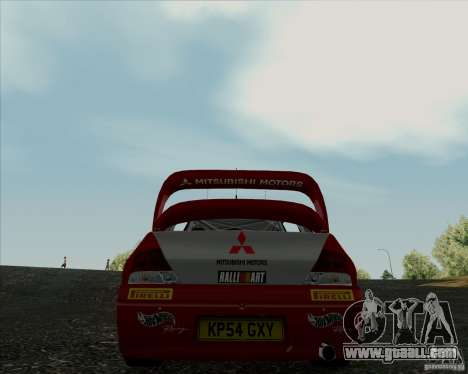 Mitsubishi Lancer Evolution VIII WRC for GTA San Andreas back left view