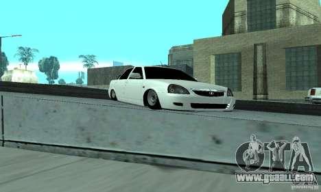 Lada Priora Low for GTA San Andreas inner view