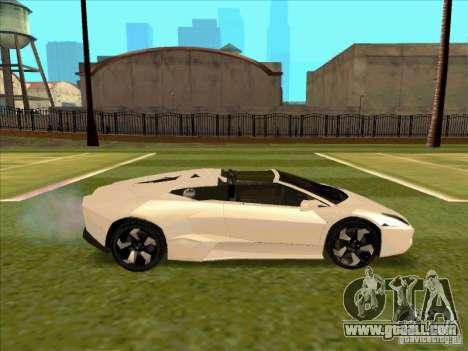 Lamborghini Reventon Convertible for GTA San Andreas back view