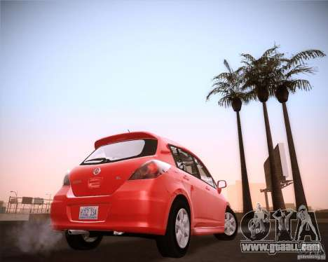 Nissan Versa Stock for GTA San Andreas back left view