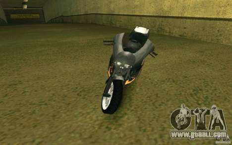 Motorcycle of the Alien City for GTA San Andreas left view