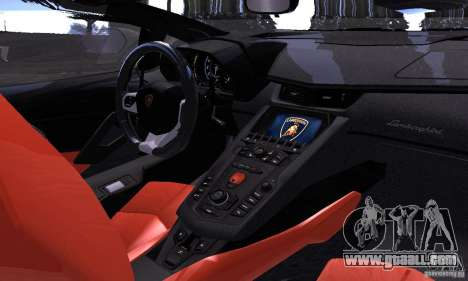 Lamborghini Aventador LP700-4 Final for GTA San Andreas right view