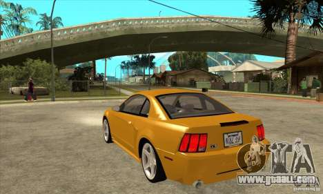 Ford Mustang GT 1999 - Stock for GTA San Andreas back left view