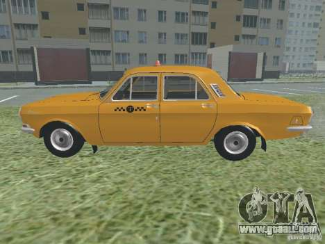 GAZ 24-01 Taxi for GTA San Andreas back view