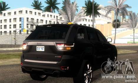 Jeep Grand Cherokee SRT8 for GTA San Andreas back view
