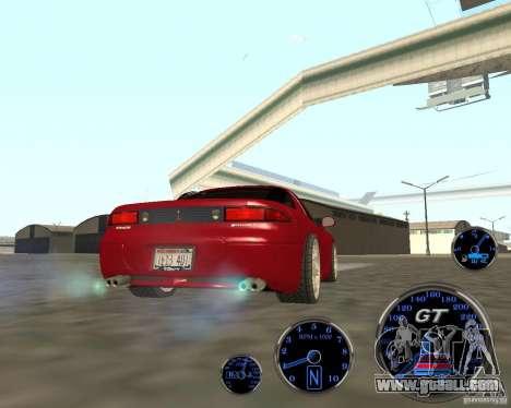 Mitsubishi 3000gt for GTA San Andreas back left view